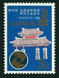 RyuKyu 184 block/4,MNH.Michel 213. Formative Education Study Conference 1969.
