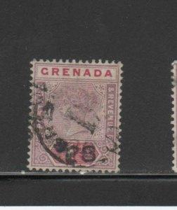 GRENADA #40   1895  1p  QUEEN VICTORIA     F-VF  USED  b