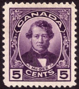Canada 1927 5c Violet SG271 MH
