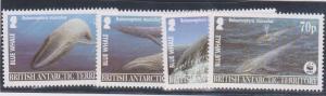 British Antarctic Territory #326-329 Mint Complete - 2003 Whales