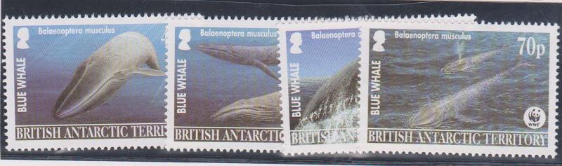 British Antarctic Territory #326-329 Mint Complete - 2003 Whales