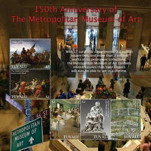 2020/12- TUVALU - METROPOLITAN MUSEUM 150TH    5V  complet set    MNH ** T
