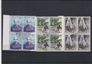 Monaco Special Cancel First Day of Issue Stamps Blocks Ref 28476