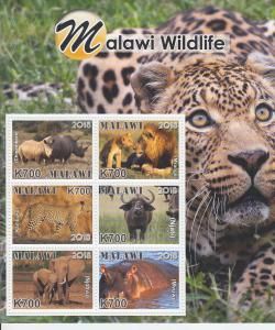 2019 Malawi Wildlife MS6 (Scott NA) MNH