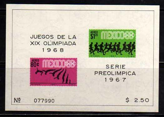 Mexico MNH Sc# C329a Olympics Imperf