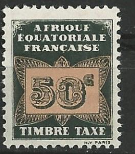 French Equatorial Africa # J7  Postage Due - Butterfly 50c (1) Unused VF