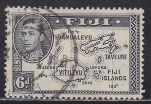 Fiji 135 Map of the Islands 1940