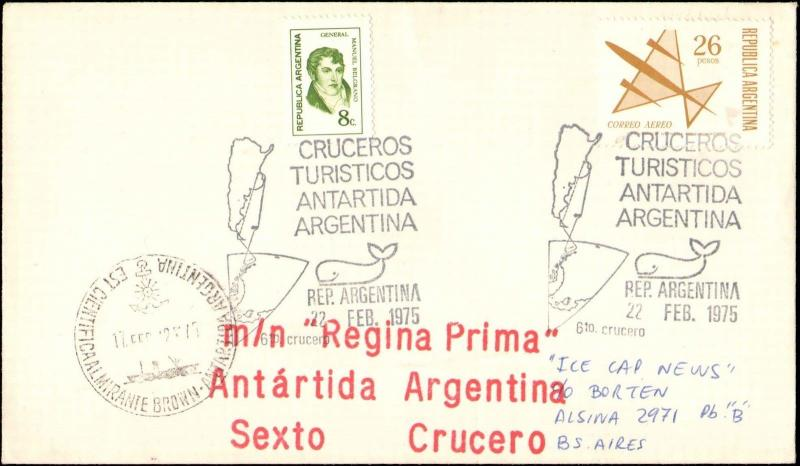 1975 ARGENTINA ANTARCTIC AND SHIP CACHETS