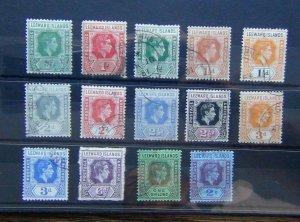 Leeward Islands 1938 values to 2s Used