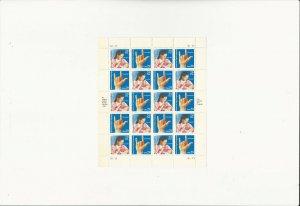 US Stamps/Postage/Sheet Sc #2784a American Sign Language MNH F-VF OG FV 5.80