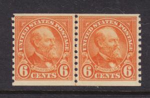 723 Line Pair FVF original gum mint never hinged nice color cv $ 83 ! see pic !