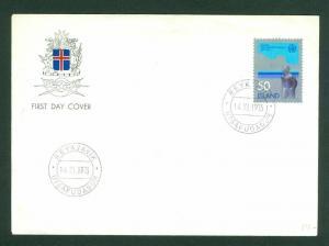Iceland. FDC Cachet. 1973. Meteorological Association. Scott # 460