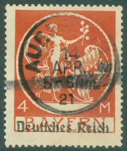 GERMANY : 1920. Michel #135lV. 5 flowers instead of 4 Signed 2x VF Used Cat €200
