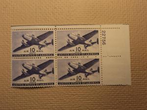 USPS Scott C27 10c Air Mail Transport Plane 1941 Mint NH ...