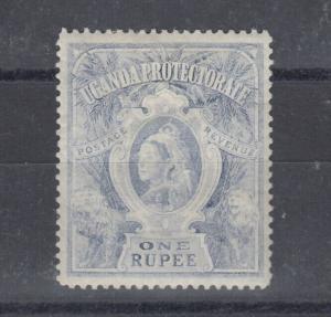Uganda Protectorate QV 1898 1 Rupee Dull Blue SG90 MLH J4884