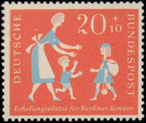 1957 Germany #B354-B355, Complete Set(2), Never Hinged
