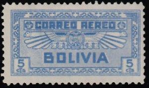 Bolivia Scott C35 Unused hinged.