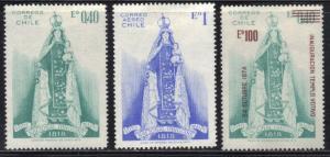CHILE SC# 393+C303+454 **MH** 1970 O'HIGGINS NATIONAL SHRINE SEE SCAN