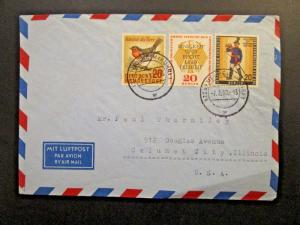 Germany Berlin 1958 Airmail Cover to USA (Light Corner Crease) - Z4617