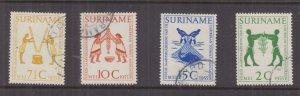 SURINAME, 1955 Tourist Association Meeting set of 4, used.