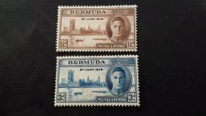 Bermuda 1946 Victory George VI