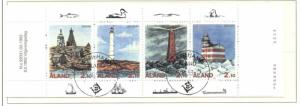 Aland Sc 67a 1992 Lighthouses stamp booklet pane used