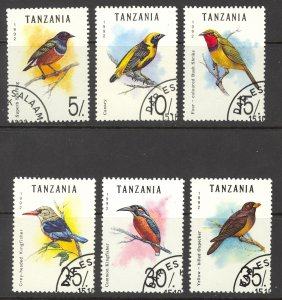 Tanzania Sc# 978-983 Used 1992 Birds