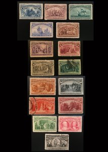 230 - 245 Complete Columbian Set, Magnificent, Vic's Stamp Stash