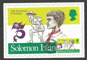 1982 Solomon Islands World Scout max FD card