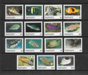FISH - VANUATU #442-56   MNH