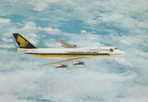 7995 Aviation Postcard   BOEING 747-300 SINGAPORE  Airlines