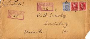 United States Washington Franklins 10c Registry and 2c Washington Franklin (2...