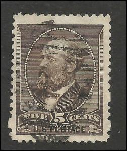 # 205 Yellow Brown Used James A. Garfield