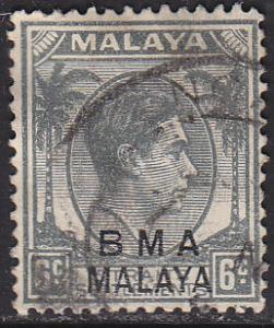 Malaysia BMA 260 USED 1945 King George VI - O/P
