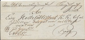 Czech Republic Stampless Cover - Beraun to Prague - 1831