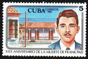 Cuba. 1987. 3115. Pais, Cuban revolutionary. MNH.