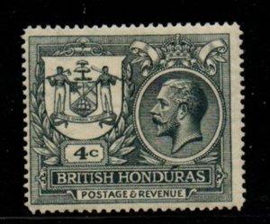 British Honduras Sc 90 1922 4c  G V & Seal of Colony stamp mint