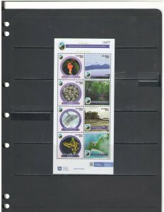 COLOMBIA: NEW ISSUE  / **Beautiful LANDSCAPE-NATURE**/ Sheet of 8/MNH