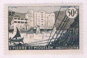 St Pierre and Miquelon 347 MLH Fish freezing plant 1955 (S0969)