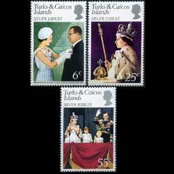 Turks & Caicos MNH 321-3 QE II Silver Jubilee 1977