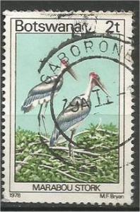 BOTSWANA, 1978, used 2t, Birds. Scott 199