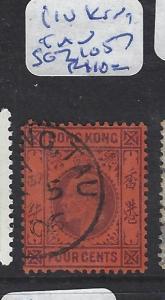 HONG KONG TREATY PORT IN CHINA  (P0110B) KE 4C SG Z1057 LIU KUNG TAU  VFU
