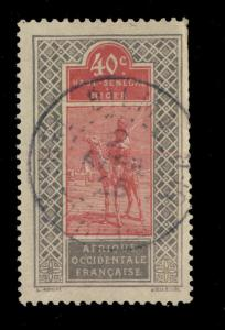 Ht-SENEGAL-&-NIGER - 1925 - CAD BILMA/ TERRITOIRE DU NIGER SUR N°28