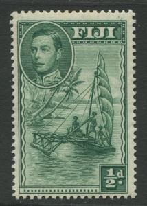 Fiji - Scott 117 - KGVI - Definitive - 1938 - MLH - Single 1/2d Stamp