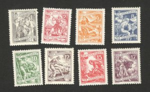 YUGOSLAVIA-MNH SET-DEFINITIVE-INDUSTRY-1953.