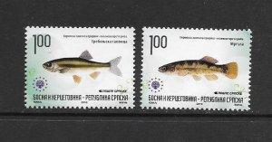 FISH - BOSNIA (SERB) #404-5 MNH
