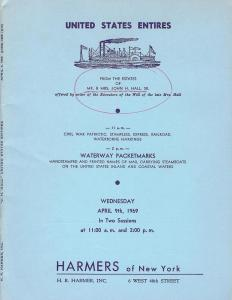 HR Harmer: Sale # 1888-1889  -  United States Entires fro...