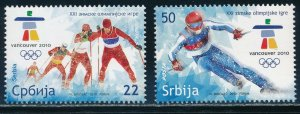 Serbia - Vancouver Olympic Games MNH Sports Set (2010)