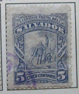 A6P37F86 Salvador 1890 5c used