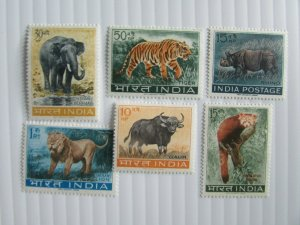 India SC #361A-66  LION TIGER RHINO GAUR ELEPHANT HIMALAYAN PANDA  MNH stamp set